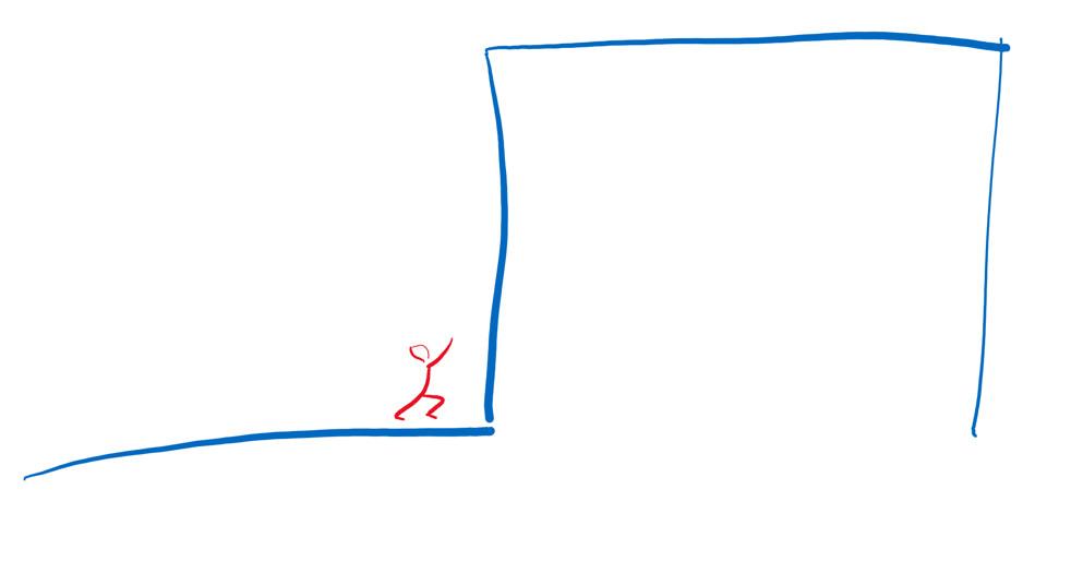 Zeichnung: Was müssten Sie tun, um an diesem Job zu scheitern?