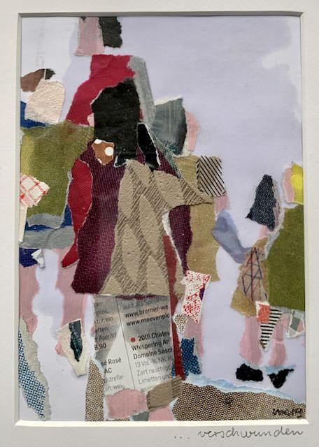 """Collage """"Verschwunden"""" von Iris Menges."""